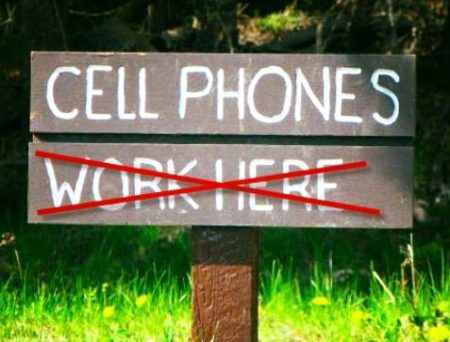 Cell Phones won't work!