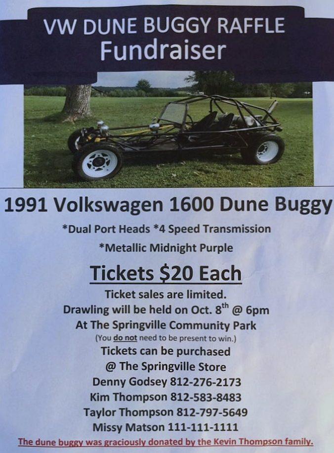 VW Dune Buggy Raffle Fundraiser